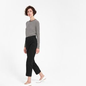 Everlane straight leg crop pants black 6